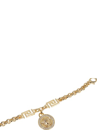 Versace Gold-tone Steel Medusa Bracelet
