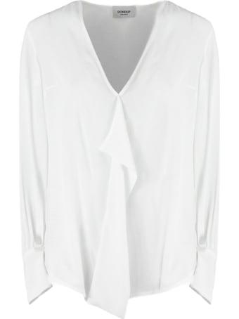 Dondup White Silk Blend Blouse