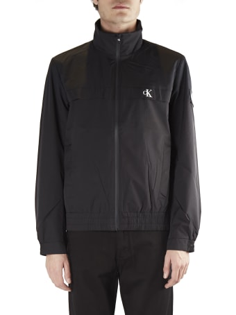 Calvin Klein Jeans Technical Fabric Jacket With Embroidered Logo