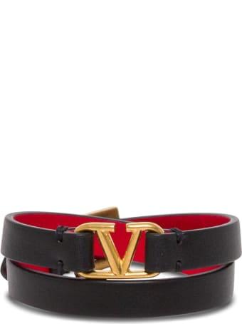 Valentino Garavani Vlogo Signature Double-strap Bracelet
