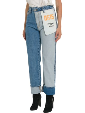 MONSE Inside Out Mismatched Jeans