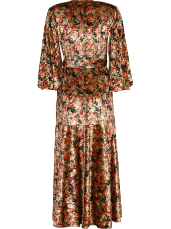 Rotate by Birger Christensen Beatrix Floral Print Velvet Wrap-dress