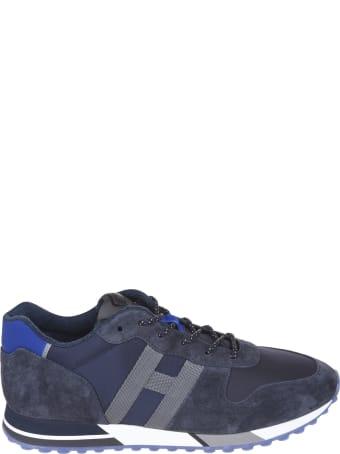 Hogan Paneled Logo Sneakers
