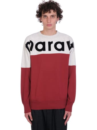 Isabel Marant Howley Sweatshirt In Bordeaux Cotton