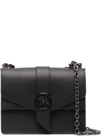 MICHAEL Michael Kors Greenwich Crossbody Bag In Black Saffiano Leather