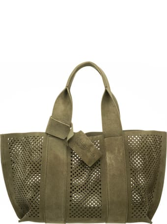 Pedro Garcia Pedro Garcia Perfed Green Tote Bag