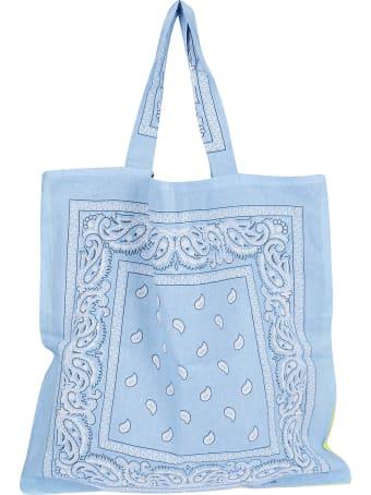 Arizona Love Light Blue And Yellow Cotton Tote Bag