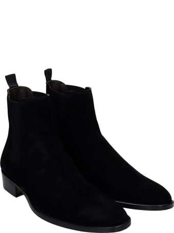 Marc Ellis Ankle Boots In Black Suede