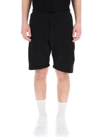 Alexander McQueen Bermuda Shorts With Logo Selvedge