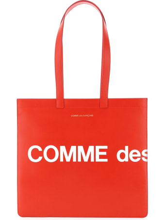Comme des Garçons Shirt Boy Leather Tote Bag With Logo