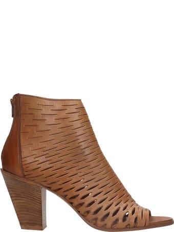 Strategia High Heels Ankle Boots In Leather Color Leather