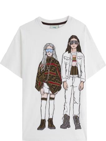 Fendi Cotton T-shirt With Print