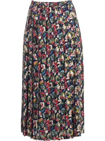 Junya Watanabe Comme Des Garçons Skirt A Line Gerogette Flower Pattern