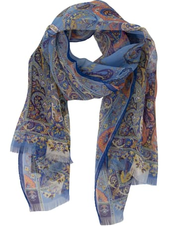 Etro Silk Shawl With Floral Paisley Print Calcutta