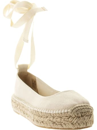Ralph Lauren Espadrilles In Cream Canvas