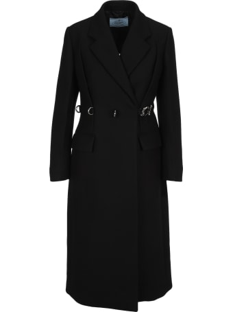 Prada Buckle Fastened Trench Coat