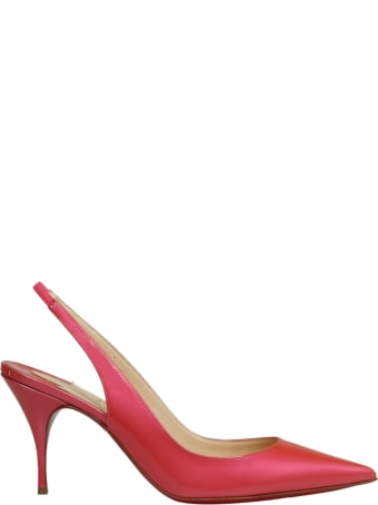 Christian Louboutin Clare Sling 80 Patent Fluo Metal