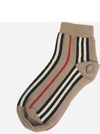 Burberry Socks Made Of Stretch Cotton Blend