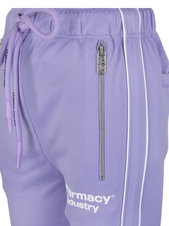 Pharmacy Industry Lilac Slim Fit Woman Joggers With Logo