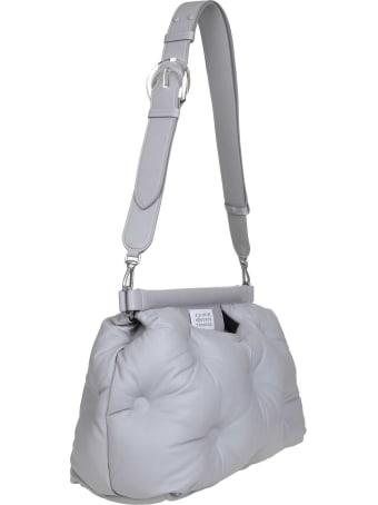 Maison Margiela Glam Slam Hand Bag In Soft Gray Leather