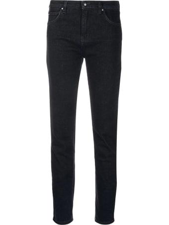 Fay Black Cotton Blend Jeans