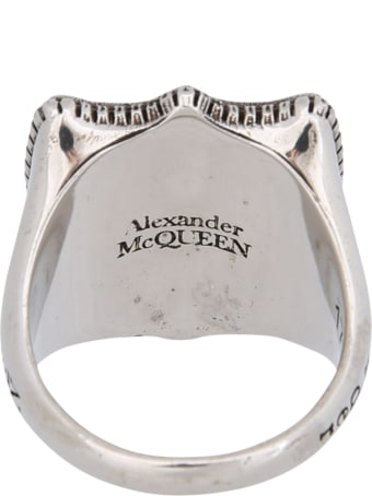 Alexander McQueen Ring With Lion Shield