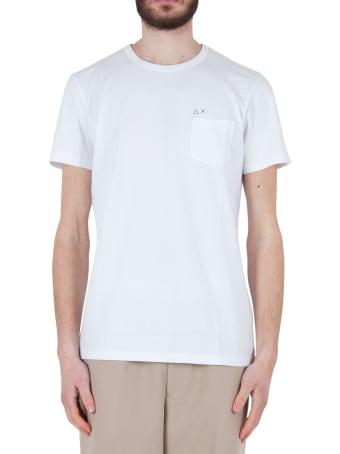 Sun 68 T-shirt Round Solid Pocket