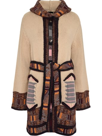 Etro Hooded Knit Maxi-coat