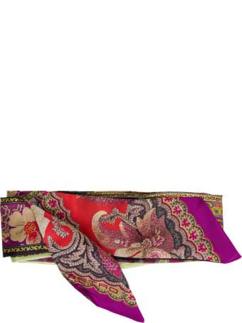 Etro Paislleyina Multicolor Silk Scarf