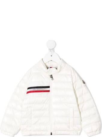 Moncler White Alipos Newborn Down Jacket