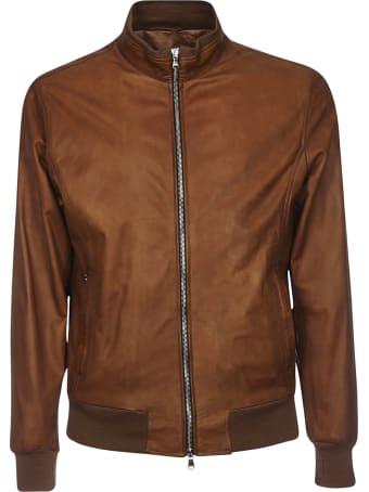 Barba Napoli Zipped Leather Bomber