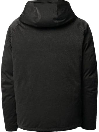 Ten C Black Down Short Padded Jacket