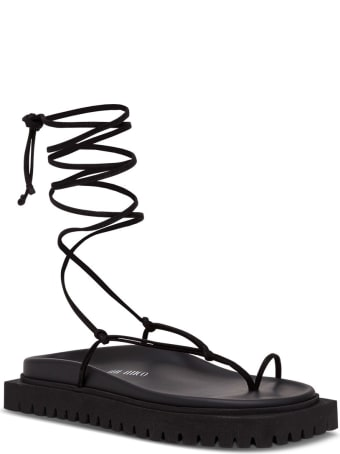 The Attico Flat Lace-up Thong Sandals