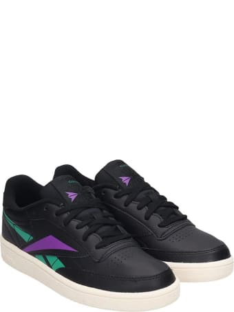 Reebok Club C 85 Sneakers In Black Leather