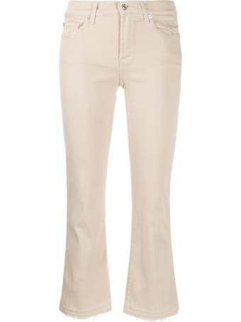7 For All Mankind Cropped Unrolled Jeans