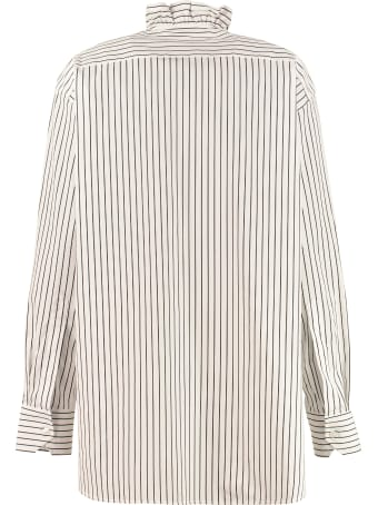 Plan C Striped Cotton Shirt