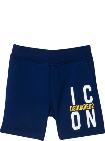 Dsquared2 Blue Sports Shorts Teen