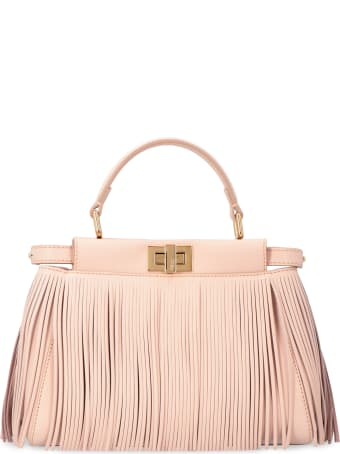 Fendi Peekaboo Icon Fringed Leather Handbag