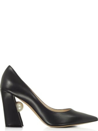 Nicholas Kirkwood Black Nappa Leather 90mm Miri Pumps