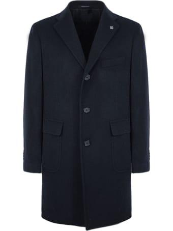 Tagliatore Blue Single-breasted Coat