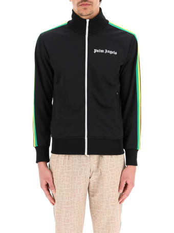 Palm Angels Zip-up Sweatshirt With Bands