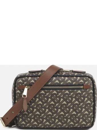 Burberry Monogram Print E-canvas Shoulder Bag