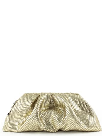 Giuseppe Zanotti Gold Tomato Clutch Bag