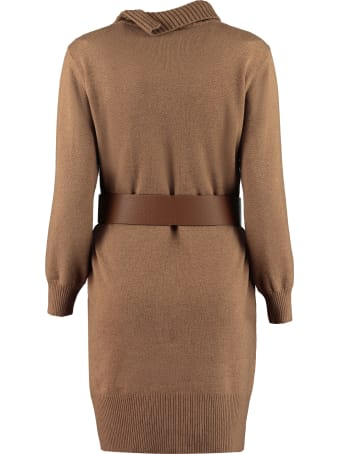 Fabiana Filippi Belted Knit Dress
