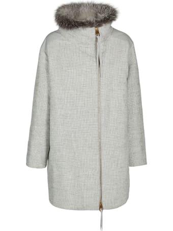 Agnona Zipped Mid-lenght Coat