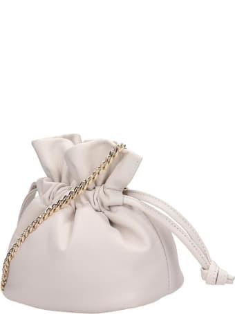 Visone Ellen Shoulder Bag In Beige Leather