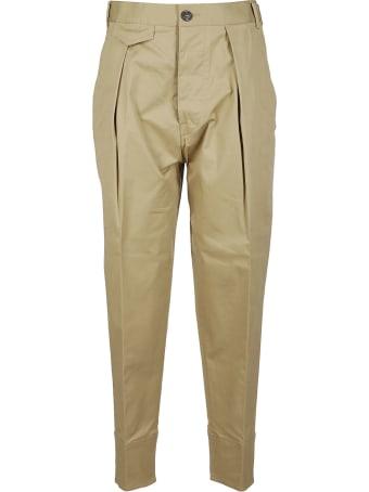 Dsquared2 Beige Cotton Trousers