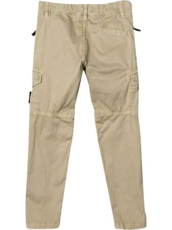Stone Island Junior Sand Cargo Trousers Teen