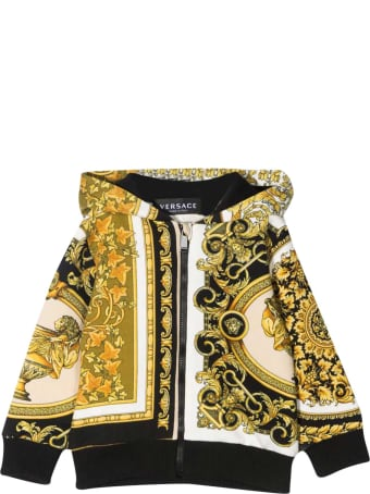 Young Versace Baroque Print Hoodie