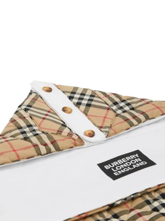 Burberry Beige Cotton Check Print Baby Nest
